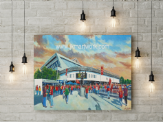 ashton gate  going to the match canvas a2 size